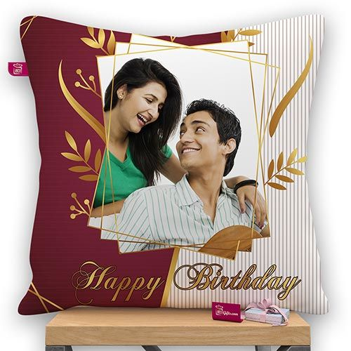 Happy Birthday Wish Personalized Pillow With Filler