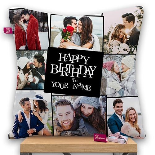 Happy Birthday Design Personalized Photo Pillow With Filler