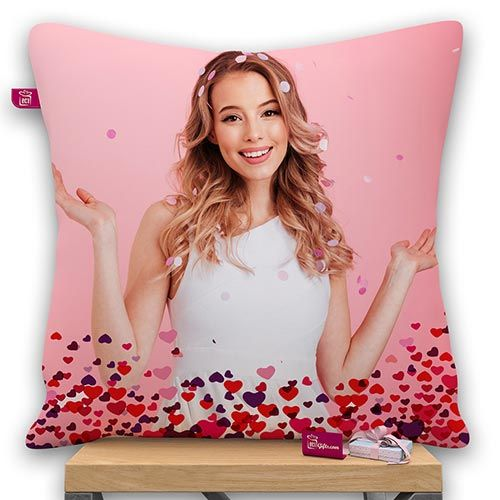 Personalized Bottom Heart Design Pillow With Filler
